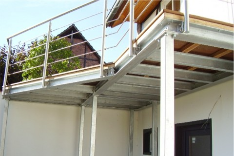 Balkon Jestädt Metalltechnik Metall am Bau Thüringen Kassel Bad Sooden-Allendorf