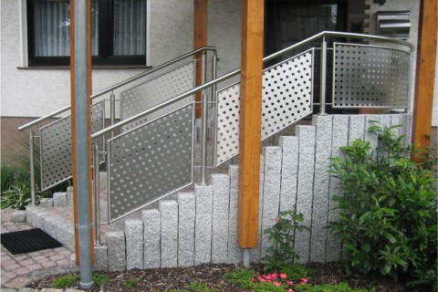 Balkongeländer Geländer für Treppen und Balkone Metalltechnik Oschinski Metall am Bau Thüringen Kassel Bad Sooden-Allendorf